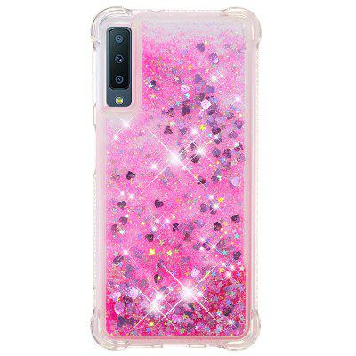 Pink Small Love Full Soft Shatter-resistant Transparent Protective Phone Case for Samsung Galaxy A7
