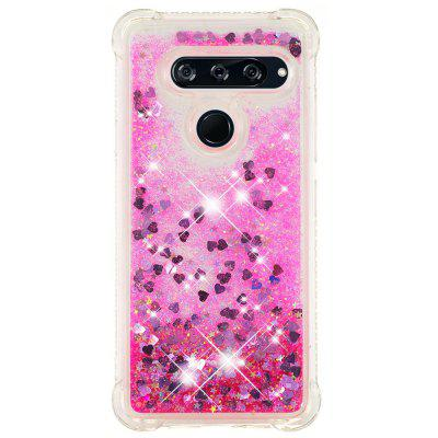 Pink Small Love Full Soft Anti-drop Transparent Protective Phone Case for LG V40
