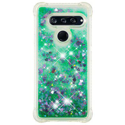 Green Small Love Full Soft Anti-drop Transparent Protective Phone Case for LG V40
