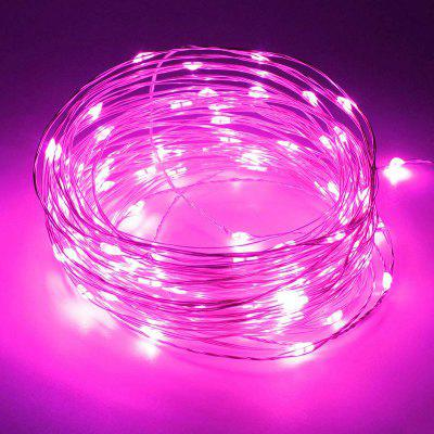 BRELONG 100LED Outdoor waterdichte USB koperdraad lamp Pink Light