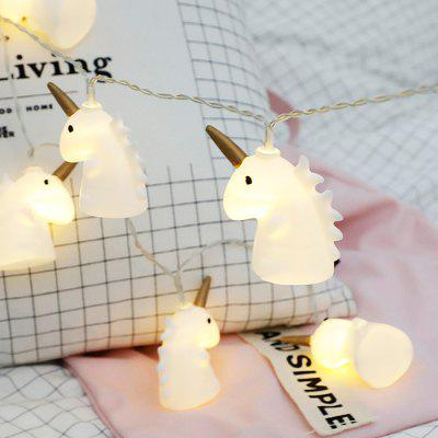 Pony Unicorn LED Lamps Flashing Bedroom Room Layout String Lights Battery Type