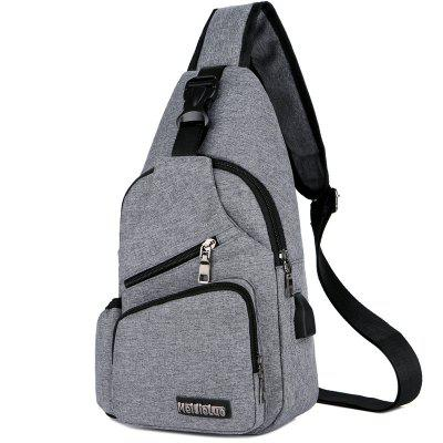 Men Charging Sports Chest Bag Outdoor