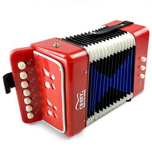 MA102 7 Keys Accordion LAVA RED REGULAR