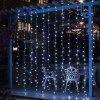 BRELONG Christmas 600LED Curtain String Light Blue Light - WHITE