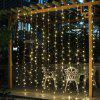 BRELONG Christmas 600LED Curtain String Light 220V Warm White - WHITE