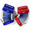 MA102 7 Keys Accordion - LAVA RED