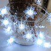 LED Snowflake String Lights Christmas Decorations Creative Layout Lamp - WHITE