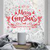 SK7180 Merry Christmas Window Sticker - RED