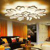 Stylish LED Ceiling Lamp Modern Home Creative Personality Acrylic Living Room Bedroom Dimming Light - MILK WHITE