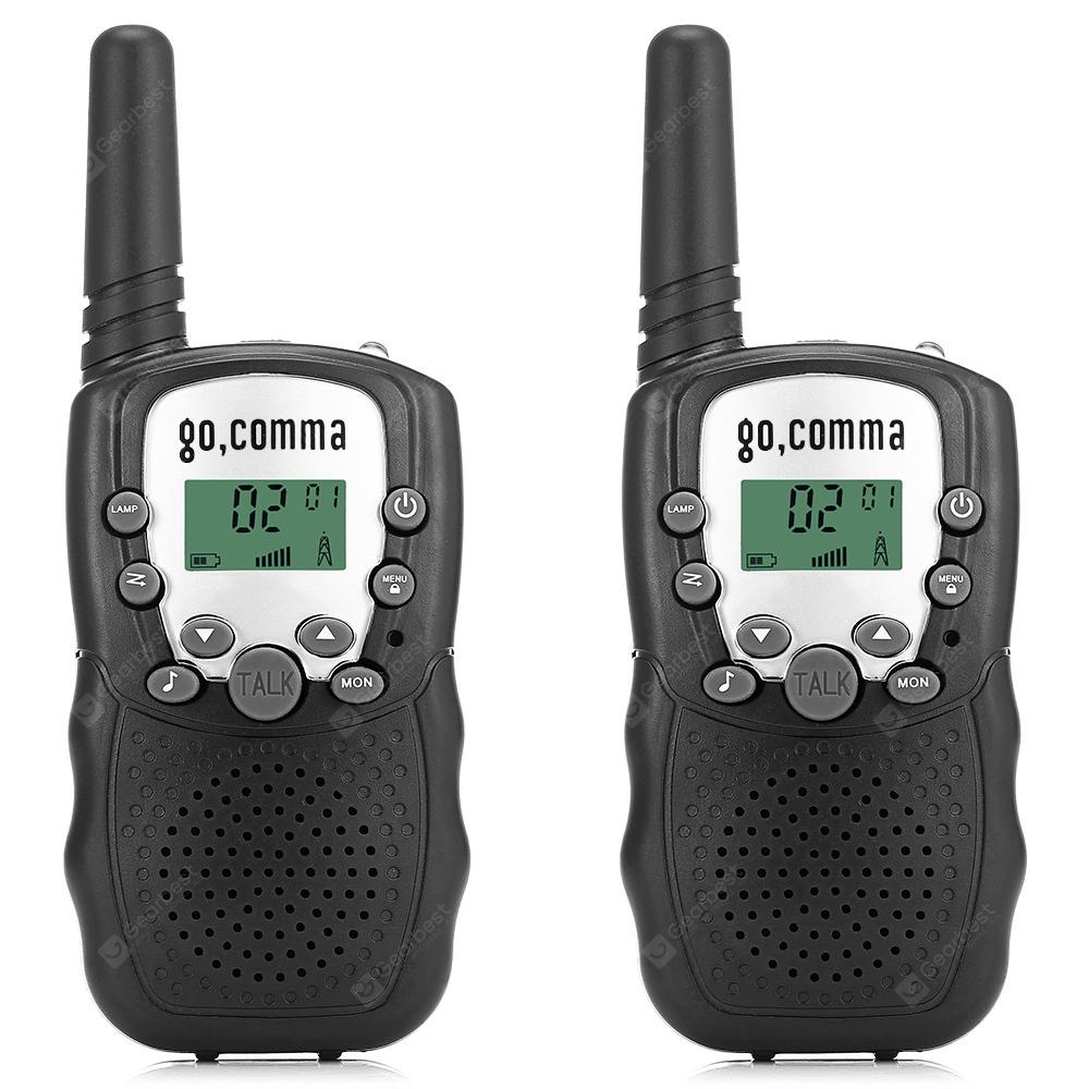 Gocomma 8 channel 2 way Radio Walkie Talkie 2PCS BLACK