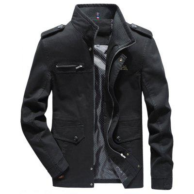 Windbreakerjas heren Gewassen trenchcoat