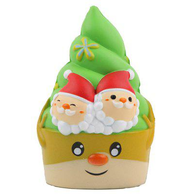 PU Weihnachten Ice Cream Squishy Toy