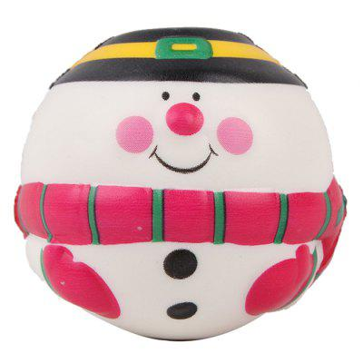 PU Slow Rebound Printing Christmas Snowman Squishy Toy