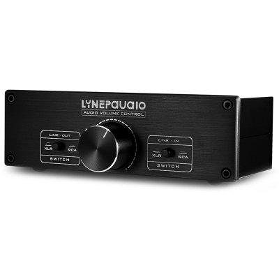 LINEPAUDIO A967 Fully Balanced Passive Preamp Active Speaker Dual Channel Volume Controller