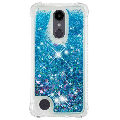 Blue Small Love Full Soft Anti-drop Transparent Protective Phone Case for LG K8