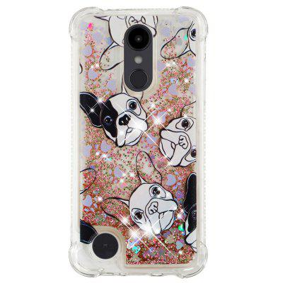Black White Dog Full Soft Drop-proof Transparent Protective Phone Case for LG Aristo 2