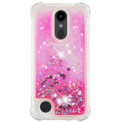 Pink Small Love Full Soft Anti-drop Transparent Protective Phone Case for LG K8 2018