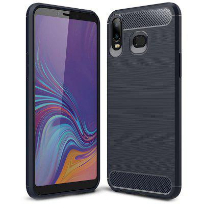 Naxtop Carbon Fiber Brushed Non-slip Soft Protection Back Cover Phone Case for Samsung Galaxy A6S