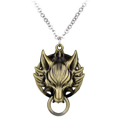 Wolf Head Necklace Retro Exaggerated Pendant Sweater Chain