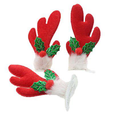 Christmas Activity Cotton Hair Clips Antlers / Hat Headwear 2pcs