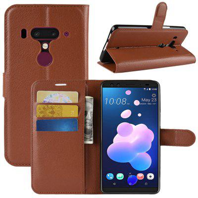 Naxtop lichia mobile wallet flip suporte full body protection phone case para htc u12 + / htc u12 mais