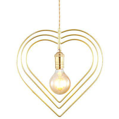 YWXLight Simple Modern Creative Personality Rotating Heart Ceiling Lamp