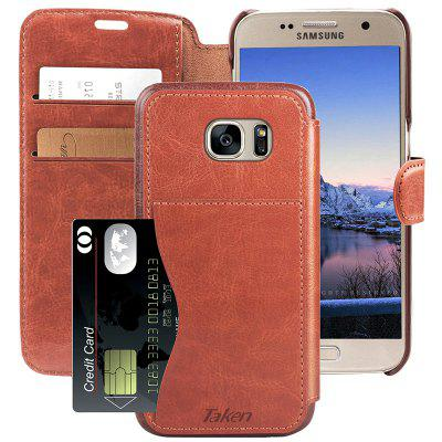 Leather Wallet Case with Credit Cards Slot for Samsung Galaxy S 7 / S7