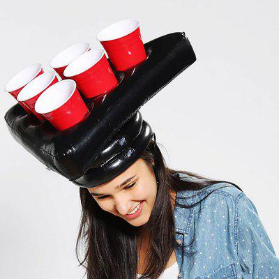 PVC Inflatable Beer Hat for Tennis Game