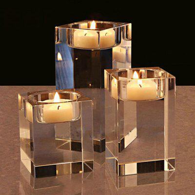 Creative Crystal Glass Candlestick