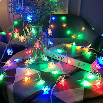 BRELONG Stylish Christmas Decoration 20 Luzes LED de corda de floco de neve
