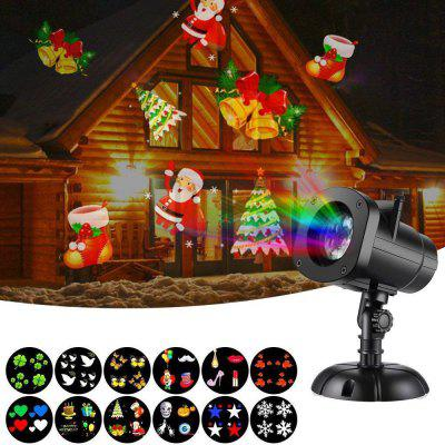 Christmas / Halloween Star Outdoor Night Snowflakes Projector Light 12 Slides Show LED Moving Landscape Spotlights for Holiday Decorations