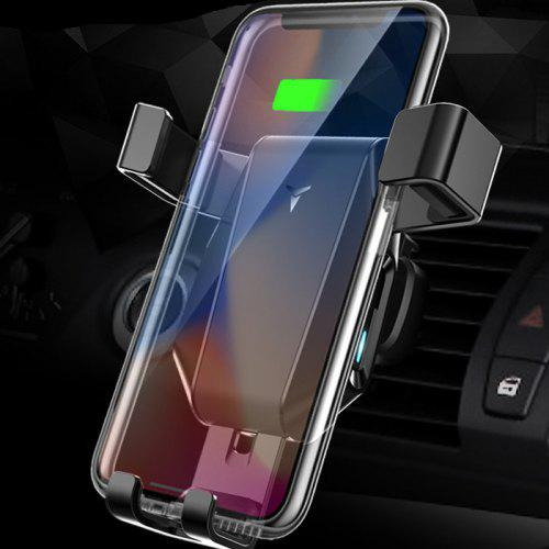 Universal Car Air Vent Mount Wireless Fast Charging Phone Holder - BLACK