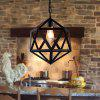 YWXLight Retro LOFT Industrial Wind Polyhedron Chandelier - WARM WHITE