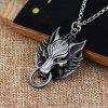 Wolf Head Necklace Retro Exaggerated Pendant Sweater Chain - GOLD