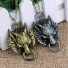 Wolf Head Necklace Retro Exaggerated Pendant Sweater Chain - SILVER