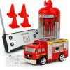 8027 Remote Control Mini Water Tank Fire Truck 27MHZ - RED