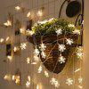 5 Meters 50 LED Snowflake String Lights for Decoration - WARM WHITE