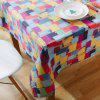 Creative Printed Pattern Cotton Linen Table Cloth - MULTI-A