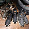 Men Fashionable Thermal Leisure High-top Boot - LIGHT BROWN