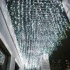 BRELONG 220V Christmas 600-LED Curtain String Light - COOL WHITE