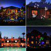 Christmas / Halloween Star Outdoor Night Snowflakes Projector Light 12 Slides Show LED Moving Landscape Spotlights for Holiday Decorations - BLACK