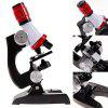 Children's Microscope 1200 Times Set Scientific Experiment Teaching Aids Toy - BLACK