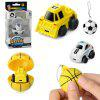Mini 2 in 1 RC Car 2CH Remote Control Model Toy Gift - YELLOW