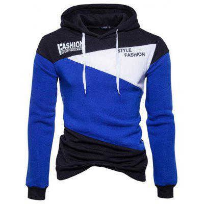 Colorblock Hooded Long Sleeve Comfortable Sweater College Style Hoodie
