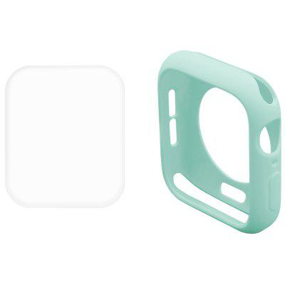 Hat-Prince 2 In 1 Solid Color TPU Half Pack Case + Transparent 3D PET Curve Hot Bend HD Screen Protector for iWatch Series 4