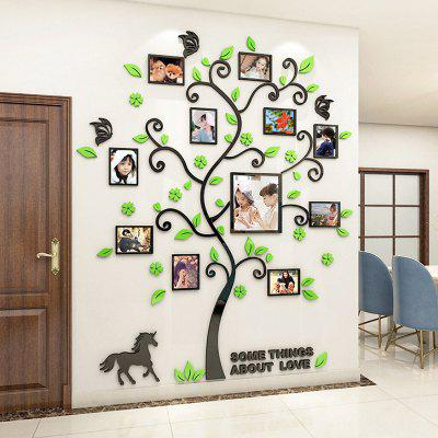 3D Acrylic Frame Tree Wall Sticker