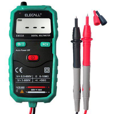 ELECALL EM33A Non-Contact Mini Voltage Current Tester Digital Multimeter