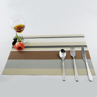 Gestreepte Teslin Boxed PVC Placemat