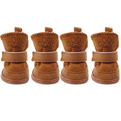 Autumn Winter Pet Dog Cat Teddy Puppies Snow Boots 4pcs