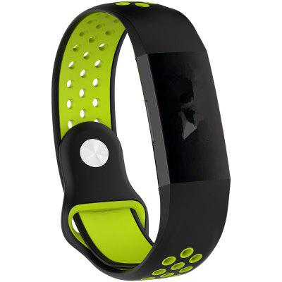 Silicone Air Hole Two-color Breathable Sports Strap Suitable for Fitbit Charge 3